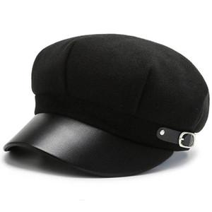 Yoyocorn novo lã octogonal chapéus para mulheres casual inverno outono chapéu senhoras moda boinas beret boné feminino newsboy gatsby tampões