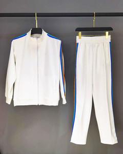 جديد وصول أعلى جودة الرجال رياضية المرأة ملابس خارجية سترة عارضة الرياضية اثنين من قطعة مجموعات السراويل الرياضية S-XL