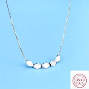 925 Sterling Silver Color Pendant Necklace Women's Fresh Simple Natural Chain Colgante De Ley 925 Jewelry Gemstone Necklaces