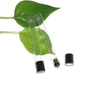 200pcs 12ml Empty Stainless Steel Metal Roll on Bottles 12cc Transparent Glass Roller Ball