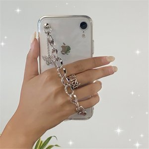 Chain Cell Phone Cases For Apple iphone 12promax mini Cell Phone Accessories Phone Protector Soft Cases Butterfly