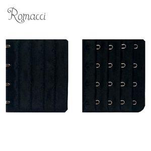 Romacci 2020 Sexy Women Basic Bra Extender 4 Hook 4 Rows Adjustable Bra Extension Strap Adapter Converter Underwear Extender