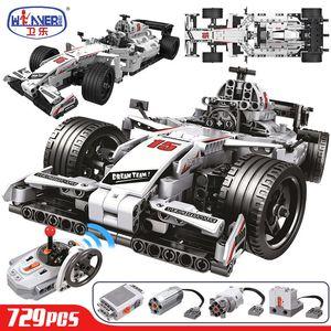 ERBO 729pcs City F1 Racing Remote Control Technic RC Car Electric truck Building Blocks bricks Toys For Children gifts Q1125