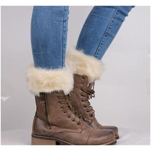 Fur Ankle Cuffs Womens Warm Faux Fur Crochet Knitted Boot Socks Cover Leg Warmer Short Socks Tube jllImk yummy_shop