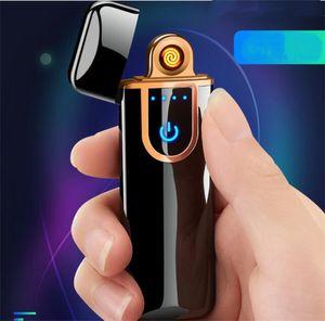 Cadeau de Noël Creative Novelty Capteur Touch électrique Capteur Cool Plus léger Capteur d'empreinte digitale USB Rechargeable Portable Portable Portable Equin Article