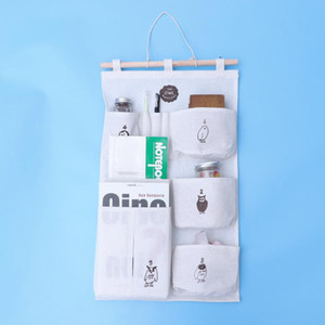 1 Pc Wall Hanging Bag Simple Household Magazine Storage Pocket Over the Door Bag Closet Organizer