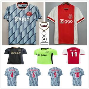 2020 2021 AJAX Футбол Джетки Tadic Van de Beek Neres Tagliafico Proпы Nourie Huntelaar Пользовательские 20 21 Домашний Взрослый Детский Футбол
