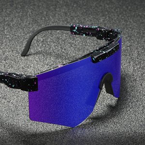 70% OFF 2020 Style pit viper Outdoor big Lens Cycling Sunglasses Sport Mirror Frame Windproof Glasses UV400 CE In China
