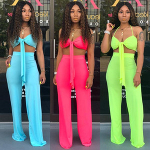 BKLD Spaghetti Straps Crop Tops Sexy Two Piece Set 2019 Summer Women Fashion Party Clubwear Pant Sets Women Outfits Tracksuit1