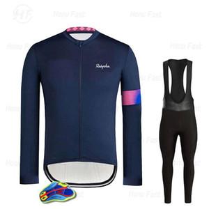 Set da corsa raffaful 2021 primavera autunno ciclismo vestiti da uomo manica lunga maglia manica lunga abito da equitazione all'aperto bici mtb abbigliamento pantaloni pantaloni set