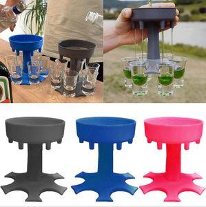 6 atış cam dağıtıcı tutucu şarap cam raf soğutucu bira içecek dağıtıcı atış buddys parti hediyeler bar içme araçları deniz nakliye dda840