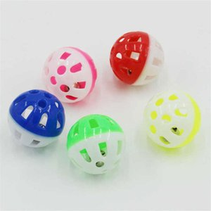 10pcs Hollow Plastic Ball Ball Cat Piccolo Dog Gioca Giocattolo Bell Bell Colorato Round Sound Pet Playing Thing Dog Toys Dogs Color Random H Jullusx Lucky2005