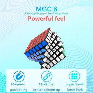 YJ MGC 6 Cubo 6x6 Magnetic Magic Cube Yongjun MGC 6 Ímãs Puzzle Velocidade Cubos Brinquedos Educativos para Crianças Y200428