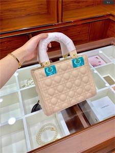 Famoso designer principessa signora moda vintage frizione borse distintive tracolla cinturino cinque quadrati pecore pelle diamante reta diamante sacchetti rosa