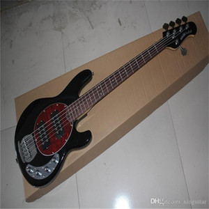 Free Shipping Hot Selling Ernie Ball Musicman Music Man Sting Ray 5 Strings 9V Active Pickup Black Electric Bass Guitar