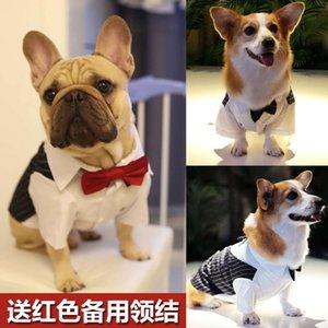 Gömlek Pet Köpek Takım Elbise Yaz Ince Düğün Fadou Yukuru Kedi Teddy Bear Drs