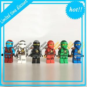 Legoe Ninjagoe Maestros compatibles de Spinjitzu Ninja Lloyd Nya Zane Cloe Jay Kai Mini Figuras Edificio Ladrillo Juguete 6pcs / lot