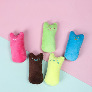 Thumb Plaything Kitten Teeth Pet Cats Mint Cute Chewing Toy Plush Grinding Interaction Toys Supplies Bite Resistant 1 6lc K2