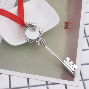 Creative Christmas Gift Keychain Snowflake Ribbon Magic Key Chain Ornament Christmas Tree Gifts Pendant Decorations VTKY2182