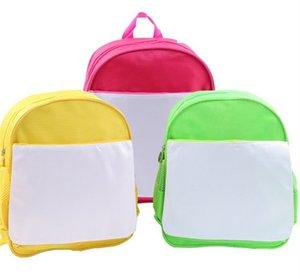 DIY فارغة التسامي حقيبة الكتف للأطفال الطلاب الحقائب المدرسية كتاب الحزم الحرارية نقل الحرارة طباعة الظهر شعار مخصص اليد E121408