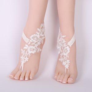 1 par de mulheres nupcial beach foot casamento anklets decor decoração descalça cadeia AIC88