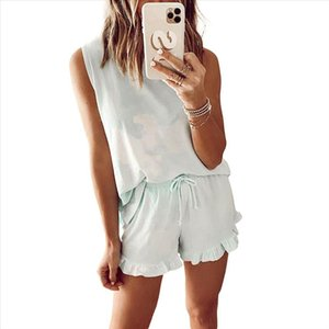 New Women Ladies Summer Sleeveless Sexy Top And Short Suit Pants Loose Casual Two Piece Set Outfit