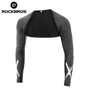 Rockbros Ice Silk Cover Ups Sport Outdoor Running Biking Sholder Pad Cut with Arm Sleeves Summer Outfit Men Women Shawl Cuff