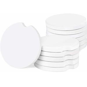 Sublimation Blank Car Ceramics Coasters 6.6*6.6cm Hot Transfer Printing Coaster Blank Consumables Materials GH835