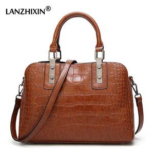 Women Famous Brand Vintage Bag Luxury Leather Handbags 2018 Crocodile Pattern Shoulder Bags For Women Fashion Ladies Hand Bag
