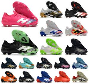 Sıcak 2020 Predator Mutator 20.1 Düşük FG Sinyal Yeşil Inflight PP Paul Pogba Erkek Erkek Futbol Futbol Ayakkabı 20 + x Kramponlar Boots US6.5-11