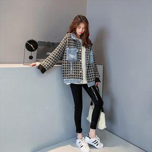 Korean Style Loose Casual Turn Down Collar Jacket Autumn and Winter 2020 Denim Jacket Women Drop Shipping
