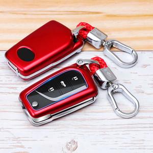 원격 자동차 키 FOB 케이스 KeyFob 쉘 케이스 Keychain 홀더 보호 커버 Toyota Camry C-HR 2018 2019 2020 자동 액세서리