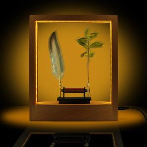 Slow Motion Frame LED Optical Illusion Sculpture Slow Down Time Action Picture Lightweight Object Desktop Decor