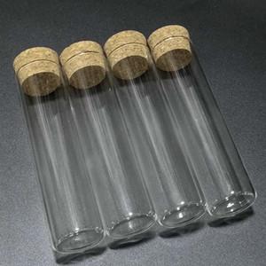 30pcs / lot 30x120mm 60ml flacher unterer Glasprüfschlauch mit Korkstopfen, Fläschchenglas, Verpackungsflaschen Freies Verschiffen q BByvys