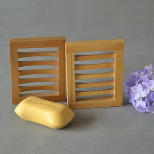 El drenaje de los platos de jabón de madera Jabón de baño de almacenamiento de titular Soap Box portaplatos caja de herramientas de la ducha del baño