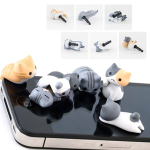 Plug Cuffie resistenti alla sporcizia Cute Cheese Cat Anti Polvere 3.5mm Auricolare Jack Animal Plug Adapter Stopper Tappo in silicone morbido per iPhone