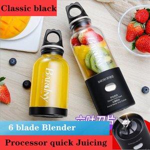 500ML 6 blade Blender Electric Kitchenr Juicer USB charging portable mini juicer stirring cup W1231