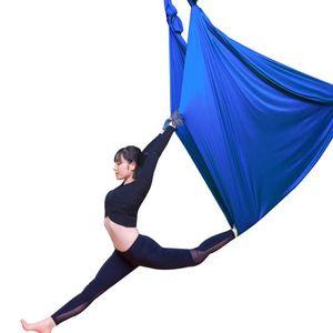 5 meters Elastic Flying Aerial Yoga Hammock Swing Latest Multifunction Anti-gravity Yoga belts for training for sport