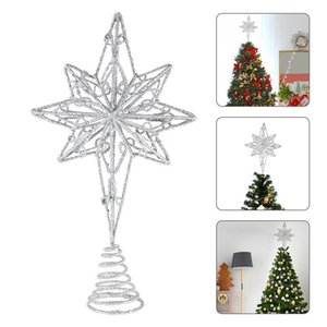 Eight Pointed Christmas Tree Top Star Anise Star Pendant Gifts Christmas Decorations New Year Xmas Tree Ornaments Treetop Topper
