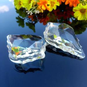 75mm Novo Maple Leaf Crystal Pingentes Clear SunCatcher Cristal Prismas Acessórios para Chandeliers Parte Curtain Wedding Home Decor H Qylfjw