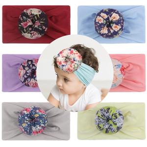 2020 New kids wide hair band children hair super soft nylon headwrap baby boy headband wholesale kids infant widen ball hair band