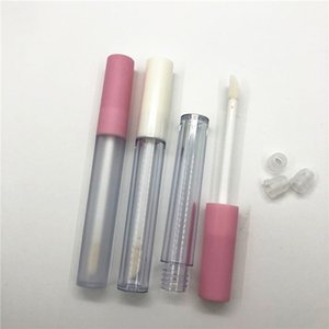 corona 2.5ML Lip Gloss Containers Tube Frosted Clear Empty Lid Balm Lid Brush Tip Applicator Wand Rubber Stoppers 6 Colors