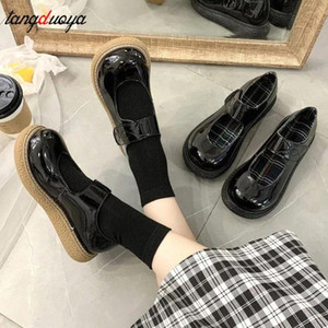 Autumn Girls Lolita Shoes Women Mary Janes Shoes Platform Woman Flats Round Toe Ladies vintage Korean shoes woman 2020 #ll0r