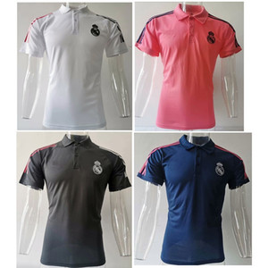 Top 20 21 Real Madrid Polo Shirt Risk Soccer Kit 2020 2021 Real Madrid Soccer Jersey Kroos Asensio Former Maillots