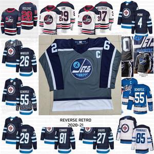 Winnipeg Jets 2021 Ters Retro Blake Wheeler Byfuglien Patrik Laine Mark Scheifele Bryan Küçük Connor Nikolaj Ehlers Morrissey Formalar