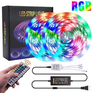 Venda quente 40w 12V-5050RGB 44 teclas 10 metros 300 luzes Dimmable À Prova D 'Água Tiras de Luz Superior Luzes Luzes Tira