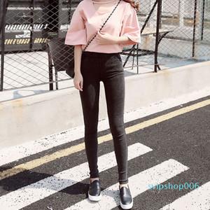 Bivigaos Moda Kadınlar Casual Ince Streç Denim Kot Tayt Jeggings Kalem Pantolon Ince Sıska Tayt Kot Bayan Giyim LJ201030