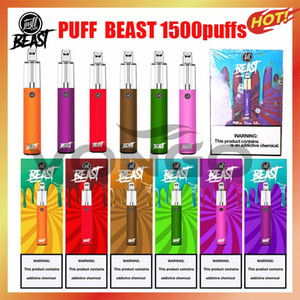 Bestia de Laboratorios Bestia 1500puffs Desechable con el código de scratch Vape Pen Dispositivo de inicio Kits de inicio vacío Desechable Kits Puff Bar Plus Bang XXL