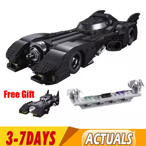In Stock New 7188 Batman 1989 Batmobile Model 3856Pcs Building Kits Blocks Bricks Toys Children Gift Compatible 59005 Q1126