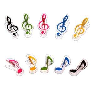 1 pcs Plastic Music Book Page Book Book Clip Clip Treble Clef Bookmarks Pieries de piano